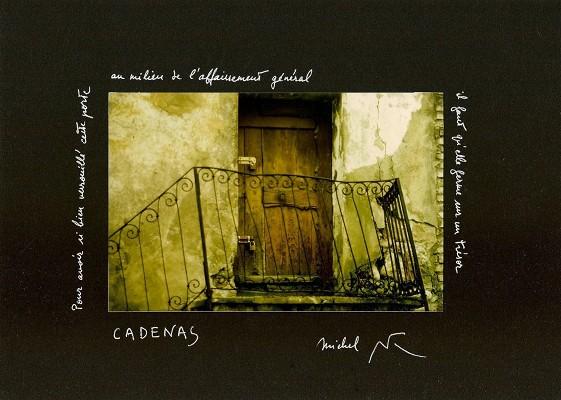C. Fromherz-Allemand, textes de M. Butor, « Cadenas », in Encadrements, ©Butor