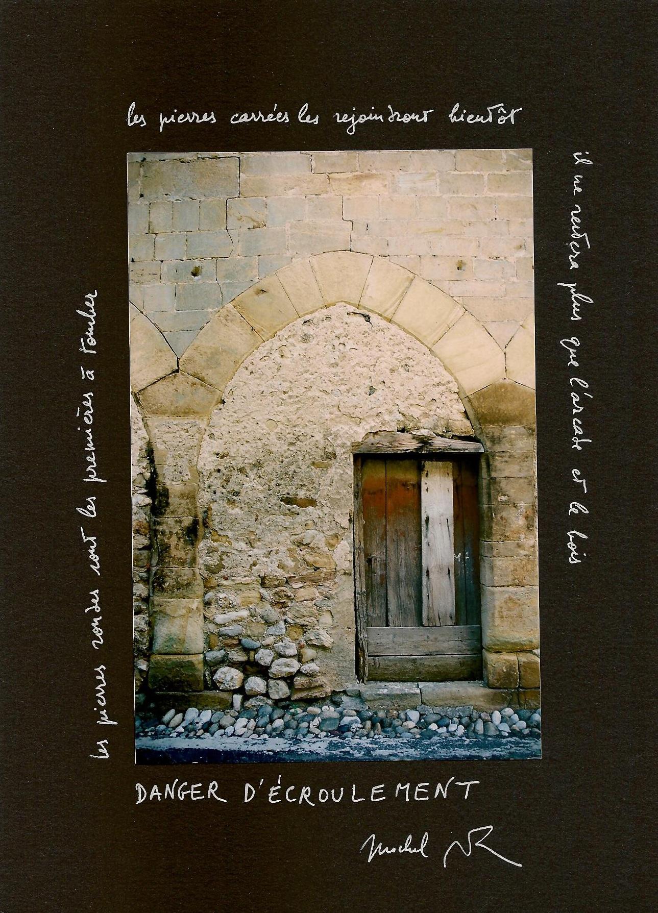 C. Fromherz-Allemand, textes de M. Butor, « Danger d'écroulement », in Encadrements, ©Butor
