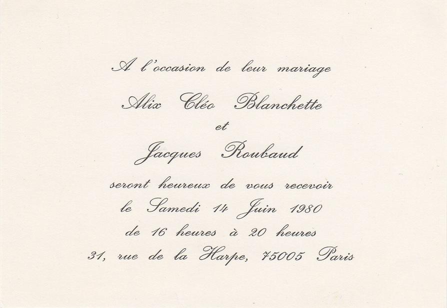 étiquette De L Invitation Informelle Au Mariage Fiche